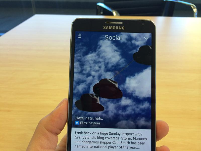 A first look at the Samsung Galaxy Note 3