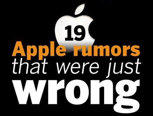 In Pictures: 19 Apple rumours that were just wrong