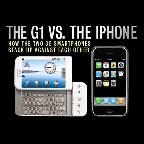 The G1 vs. the iPhone