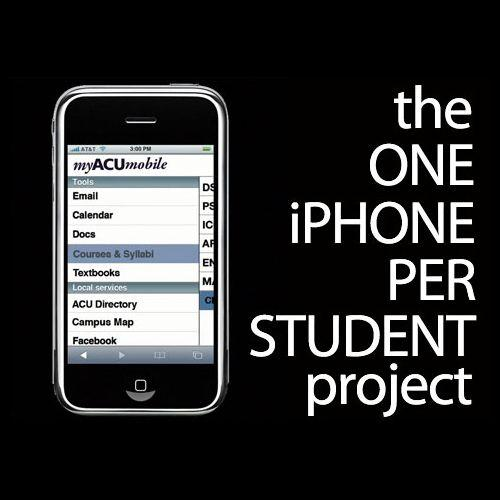 """The """"one iPhone per student"""" project"""