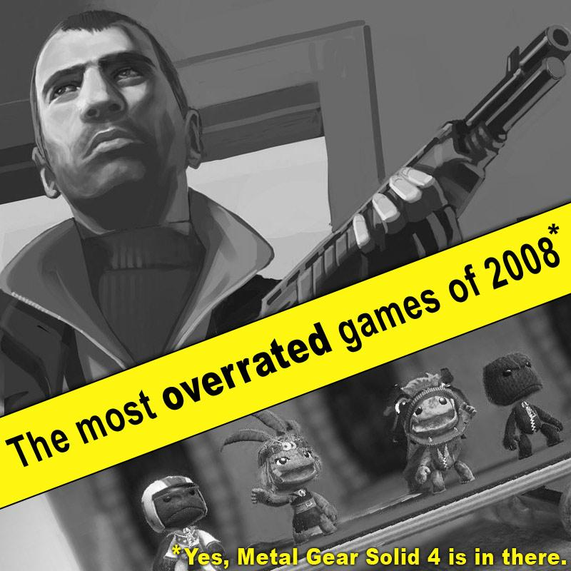 The most overrated games of 2008