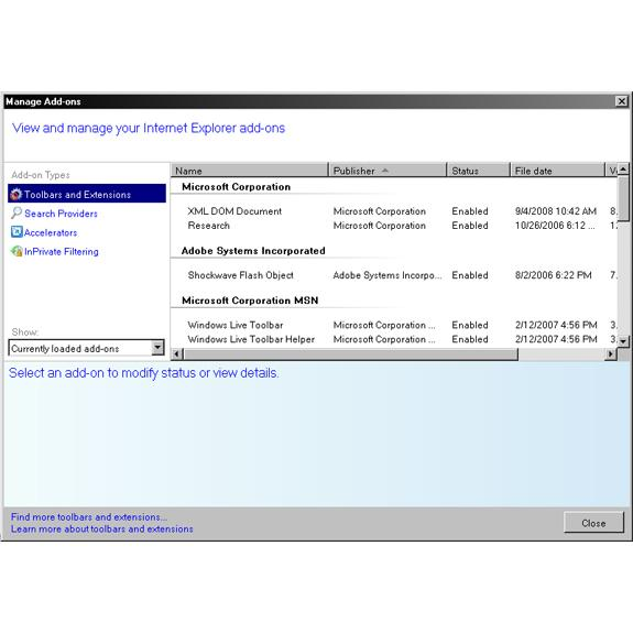 What's new in Internet Explorer 8 RC1?