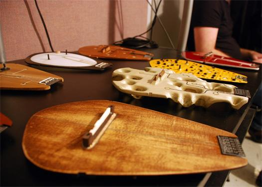 MIT guitar combines acoustics and electronics