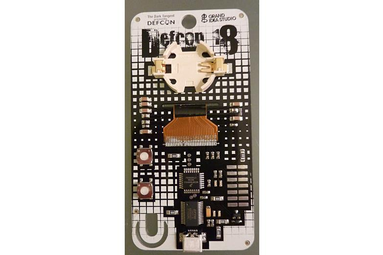 A Defcon badge unlike anything you have ever seen