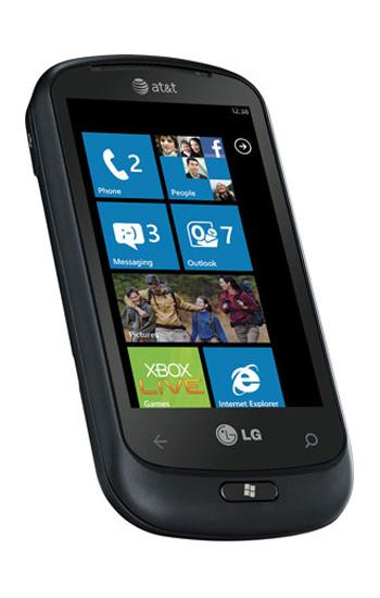 The first Windows Phone 7 smartphones