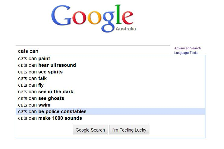 Funny Google auto-suggestions