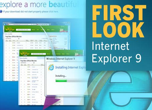 First look at Microsoft Internet Explorer 9