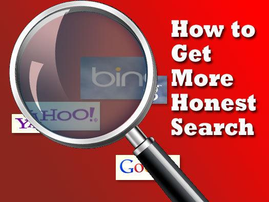 In Pictures: How to get more honest search results