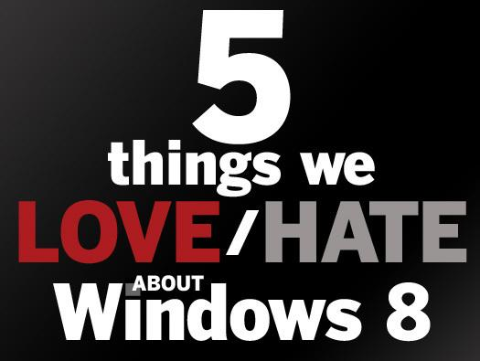 In Pictures: 5 things we love/hate about Windows 8