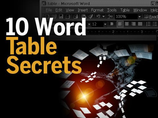 In Pictures: 10 Word Table Secrets
