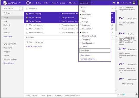 In Pictures: Gmail vs. Outlook.com vs. Yahoo Mail