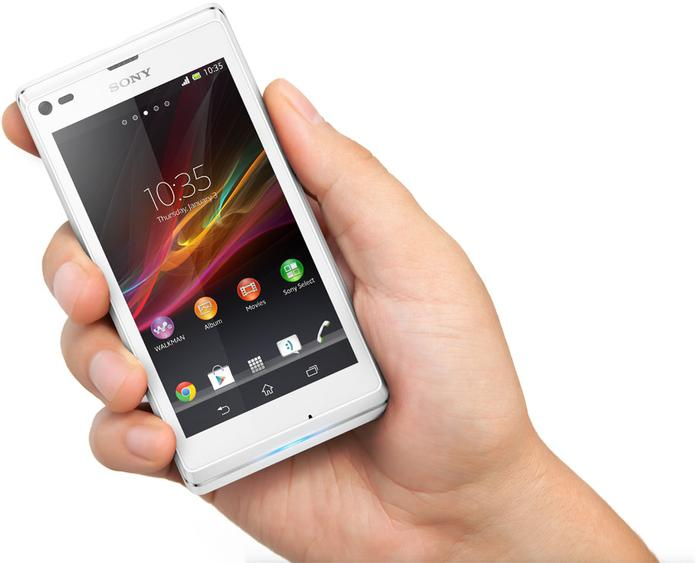 "Sony claims the Xperia L ""is neither too big nor too small""."