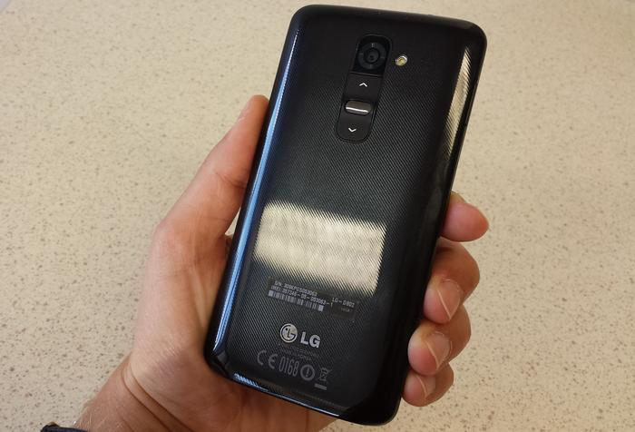 The G2 attracts plenty of fingerprints and has a slimy feel.