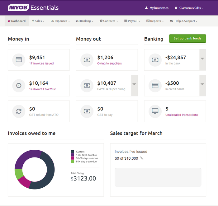 MYOB Essentials is a nice service that will tick most of the boxes for business users and accountants.