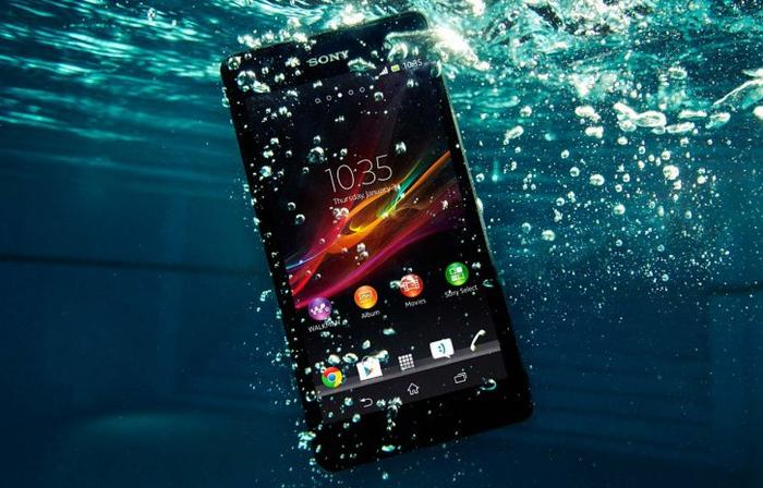 The Xperia ZR can be submerged in up to 1.5 metres of water for up to 30 minutes.
