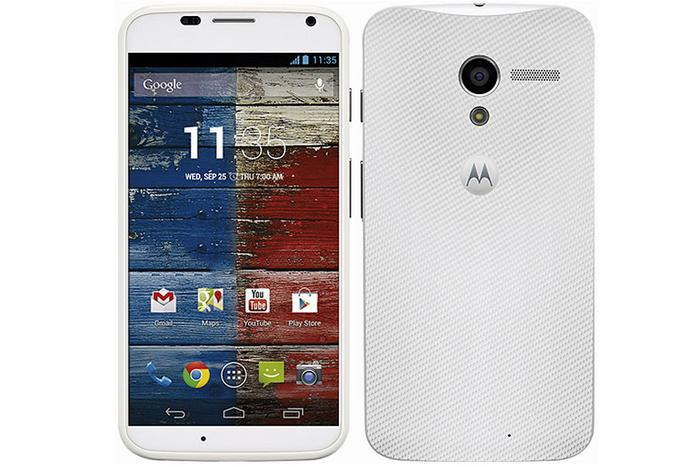 The Motorola Moto X is constructed largely from matte plastics and has a very thin bezel.