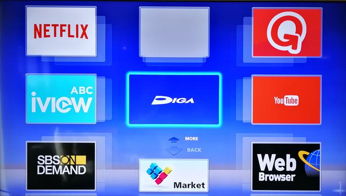 The 3D Menu is the same as Panny's plasma TVs of several years ago. It's slow to load, laggy and looks and feels very dated. Netflix, iview, Quickflix and SBS on Demand are catered for. The web browser is allows text entry using the directional pad on the remote which can also act as a mouse on the screen. It's fairly responsive but the page itself isn't. It couldn't even properly load the BBC homepage. Not good.
