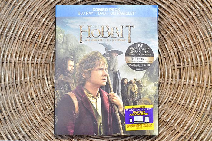 A Blu-ray + UltraViolet copy of <i>The Hobbit: An Unexpected Journey</i>.