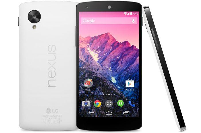 The white model of the Nexus 5 is white on the back only, with the sides and the front remaining black.