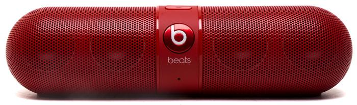 The Beats Pill has been designed to look like a giant pill.