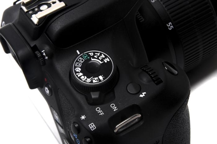 The mode dial at the top is a little tough to move, which is good in the sense that it won't easily move on its own while in your bag, but it's one of the first indications that this is a cheap camera.