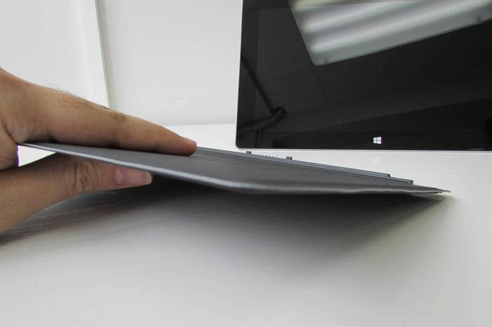 Microsoft's optional Touch Cover is cardboard-thin, yet sturdy.