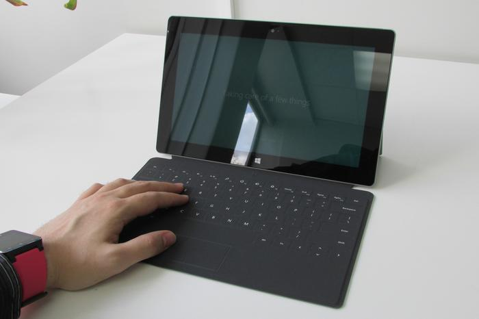 The new Touch Cover 2 has subtly but usefully backlit keys, and is radically more responsive than the previous model.