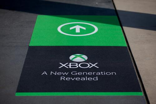 <i>Microsoft promotes the new Xbox during a media event in Redmond on May 21, 2013.</i>