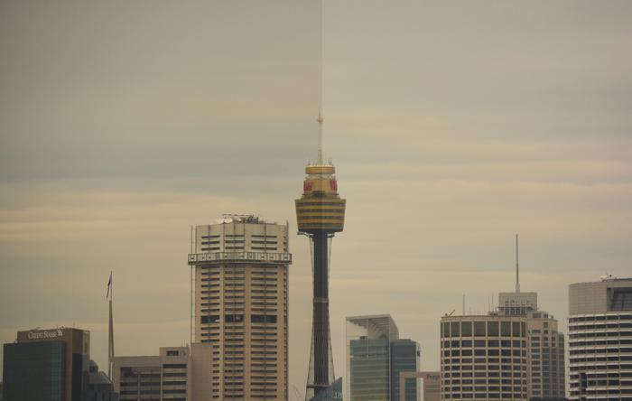 Taken at 200mm (Nikon left and Tamron right). It's 5km from our shooting location to Sydney Tower.