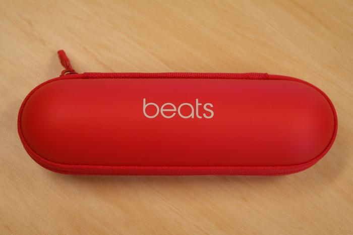 A matching, zippered case is included with the Beats Pill.