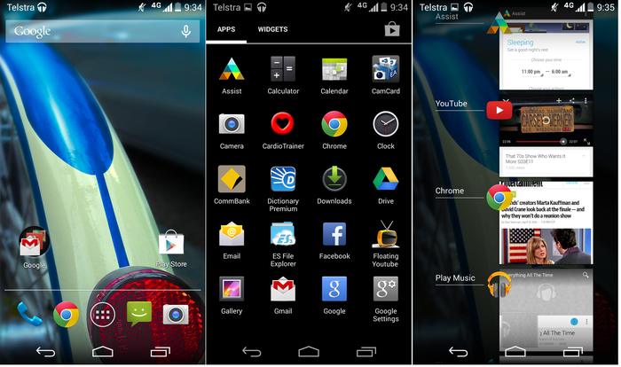 Motorola's Android is largely stock asides from clever notifications and a couple of apps.