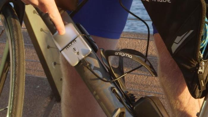 A wireless adapter was strapped to the frame.