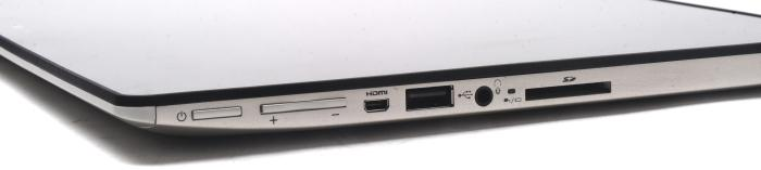 Ports on the tablet include mini-HDMI, USB 2.0, audio, and an SD card slot.