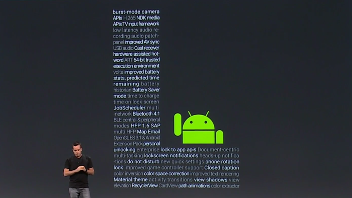 New features to Android L