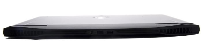 The rear has two USB 2.0 ports, and the power port.