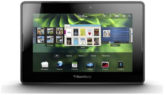 The BlackBerry PlayBook tablet