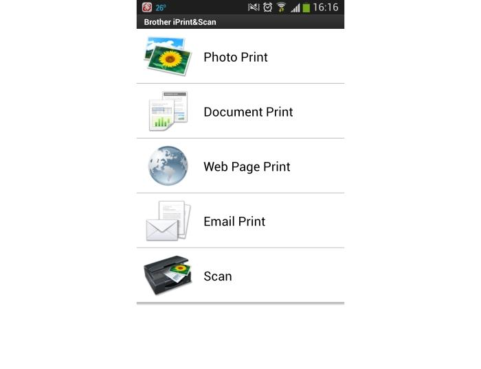 Brother's iPrint&Scan app can be used to print from (and scan to) a phone.