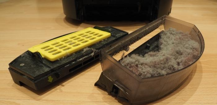 You will need to regularly clean the dust container to prevent it from becoming full and making the vacuum ineffective.