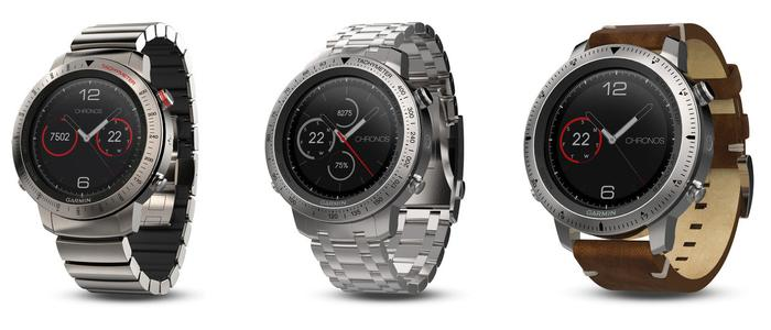 The Titanium variant (left) costs $2000, The steel/leather variant is $1399 (middle) while the steel/steel model is $1499.