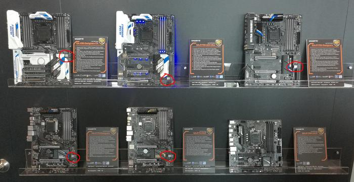 Most of Gigabyte's new mainstream motherboard range has U.2 ports.