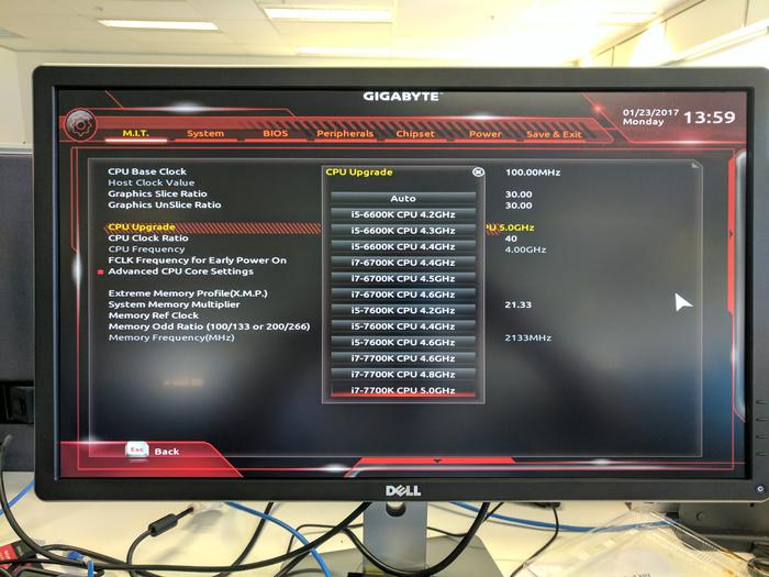 The latest F21 Designare UEFI BIOS allows you to easily overclock a processor by choosing which model you'd like to 'clone.'