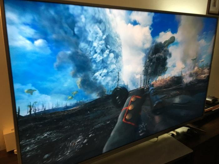 The Battlefield 1 4K, 60fps Real Life mode demo looked spectacular on this TV.