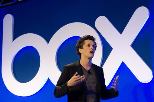 Box.net Co-Founder and CEO Aaron Levie speaks on Wednesday at the BoxWorks user conference in San Francisco.