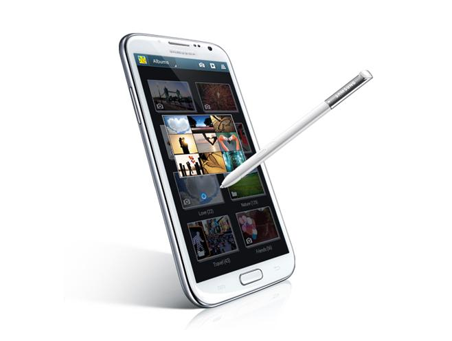 The Galaxy Note II's S Pen is longer and now has a rubberised tip, designed to make it feel more like a regular pen.