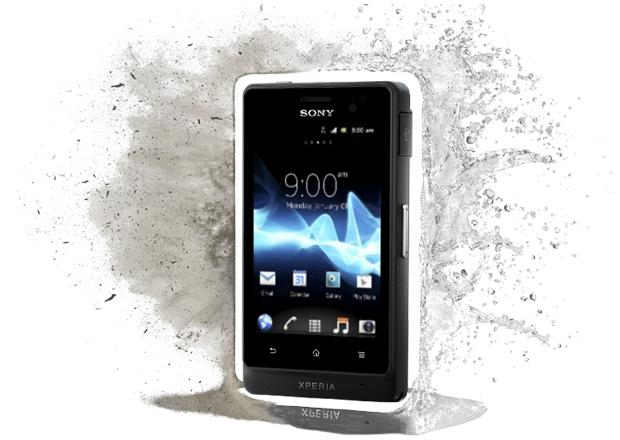 The Sony Xperia go has a water and dust resistant rating of IP67, the highest industry level rating according to Sony.