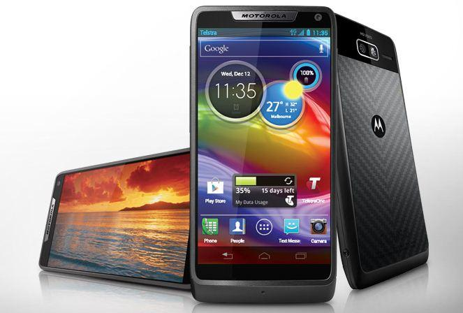 Motorola pushed the RAZR M's display as close as possible to the edge of the phone in order to maximise screen size.