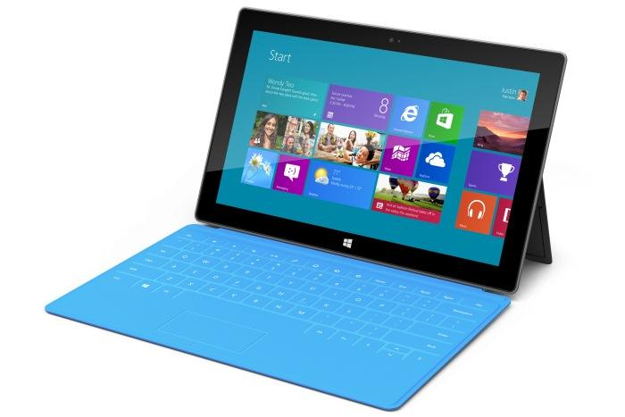 Microsoft's Surface tablet comes with a built-in keyboard cover.