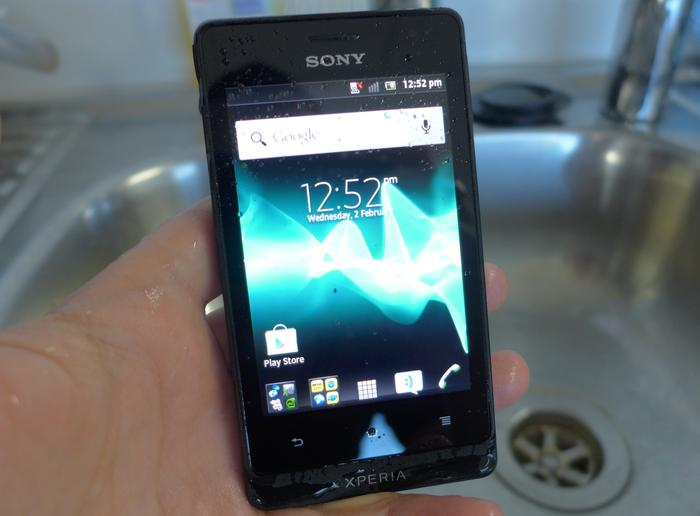 Sony says the Xperia go can survive underwater at a depth of up to one metre for around 30 minutes.