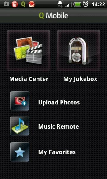 There is also a mobile app called QMobile, which allows you to listen to music off the NAS, as well upload photos to it from your phone.