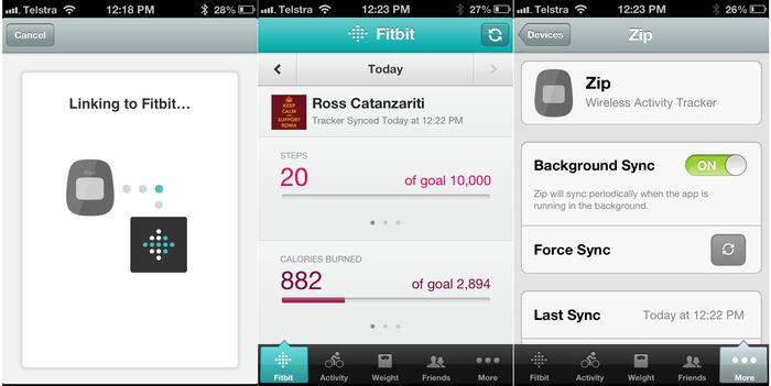 Connecting the Fitbit to an iPhone 4S or iPhone 5 is easy enough.